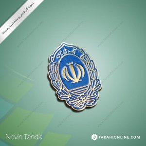 طراحی نشان سینه بانک ملی