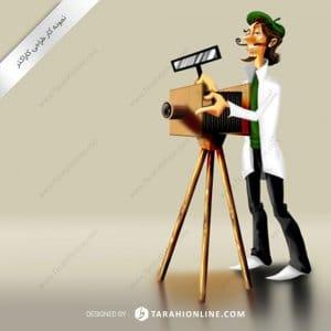 طراحی کاراکتر عکاس باشی
