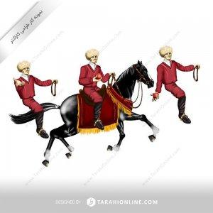 طراحی کاراکتر اسب