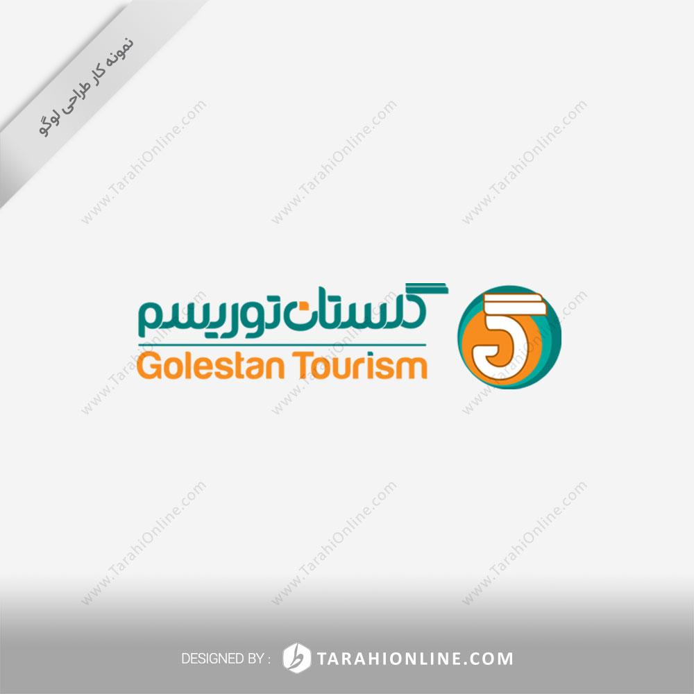 طراحی لوگو گلستان توریسم