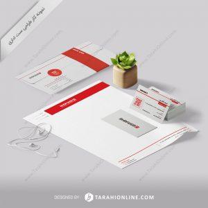 طراحی ست اداری شرکت آکاف وب