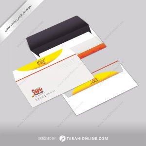 طراحی پاکت نامه رستوران برترجوجه