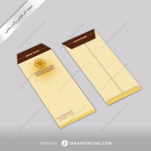 طراحی پاکت نامه شیرینی کندو