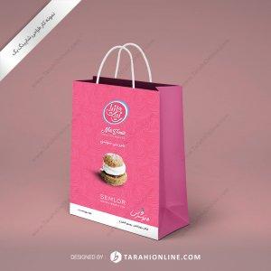 طراحی ساک دستی شیرینی سوئدی نیلی وانیلی
