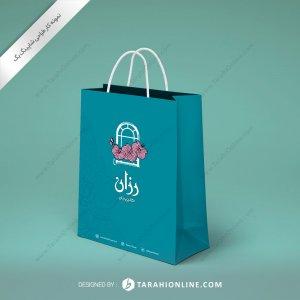 طراحی ساک دستی فروشگاه گل رزان