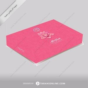 طراحی جعبه شیرینی سرای نیلی وانیلی