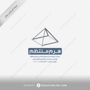 طراحی لوگو شرکت هرم منتظم