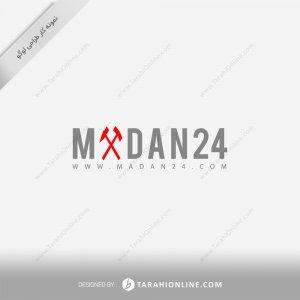 طراحی لوگو سایت خبری معدن ۲۴