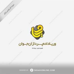 طراحی لوگو شرکت وریا داده پردازان جوان