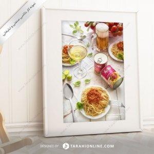 عکاسی مواد غذایی کنسرو سس ماکارونی فایز