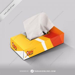 طراحی جعبه دستمال کاغذی رستوران برترجوجه ۲