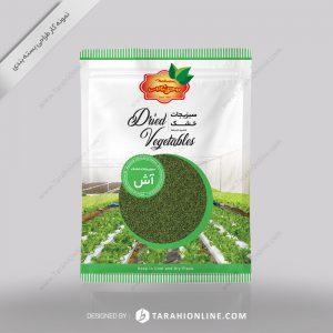 طراحی بسته بندی مهنام - سبزیجات خشک آش ۱