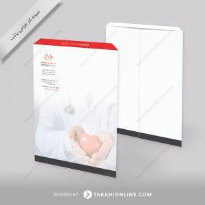 طراحی پاکت مطب تخصصی قلب و عروق اکباتان