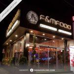 طراحی تابلو فروشگاهی رستوران اف اند ام