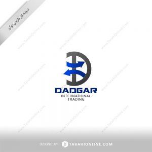 طراحی لوگو شرکت بازرگانی بین المللی دادگر
