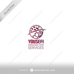 طراحی لوگو شرکت خدمات مهاجرت یوسفی